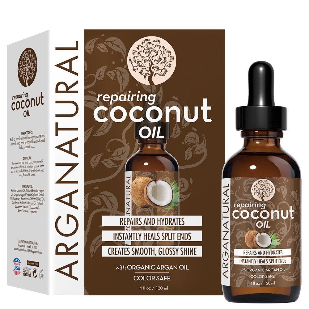 Olejek kokosowy do włosów Arganatural